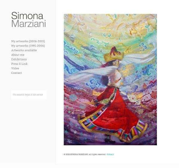 Simona Marziani, Artwork