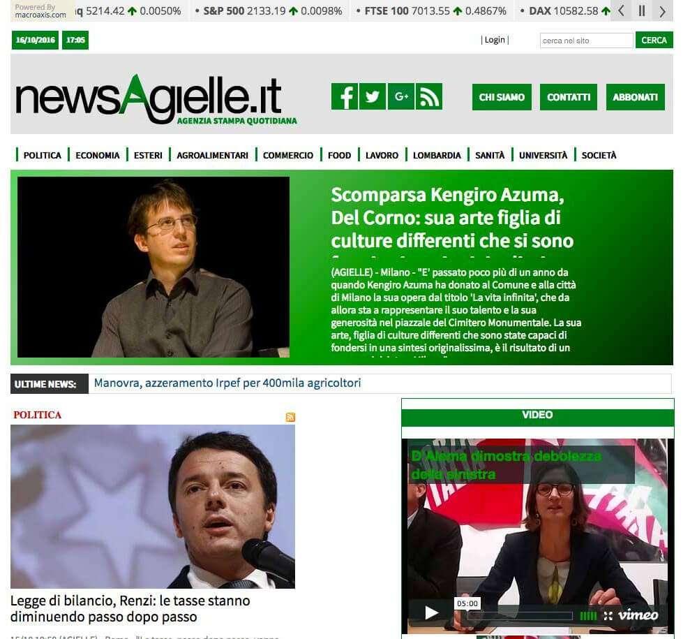 newsagielle, sito